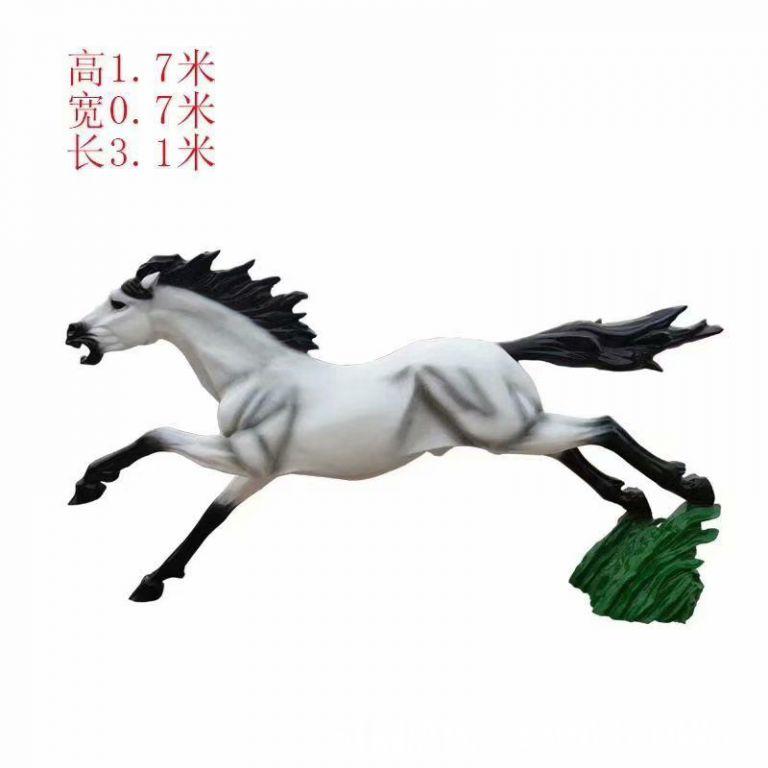 奔跑马雕塑,马奔跑雕塑