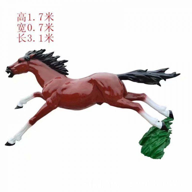 奔跑马雕塑,马奔跑雕塑1