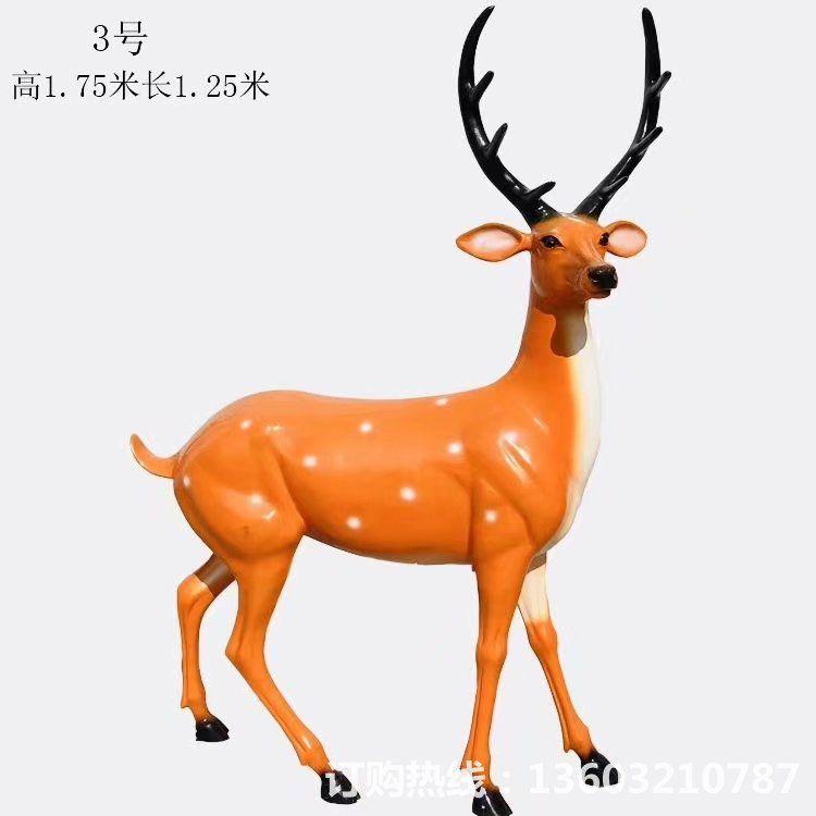 玻璃钢材质梅花鹿雕塑9